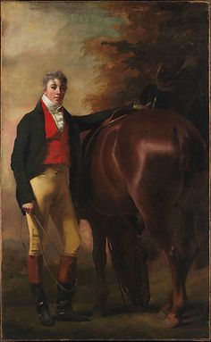 """George Harley Drummond"" by Sir Henry Raeburn (1808-1809) at the Metropolitan Museum of Art, New York - From the curators' comments: ""The sitter, George Harley Drummond of Stanmore, Middlesex, and Drumtochty, Kincardine, was the great-grandson of the founder of the family banking house, Drummonds of Charing Cross, London....George Harley Drummond was excluded from the family bank, and ""ruined his life by gambling and dissipation""."""