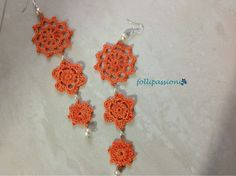 Folli Passioni: Orecchini orange con perle