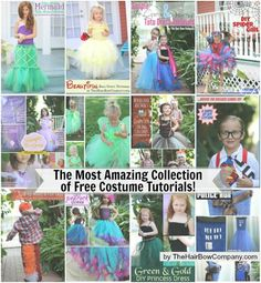 Awesome Costume Round Up  Free Tutorials Posted by THBC Blogger on 10/31/2014 to DIY Tutus & Dresses