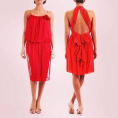 Serata speciale ? ✨✨✨ Lanvin red & Space silk dresses 💋