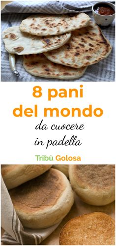 8 pani del mondo da cuocere in padella - Janis Ce. Zucchini Pizza Boats, Diet Recipes, Bread Recipes, Pita, Chapati, Easy Bread, Food Design, No Cook Meals, Cooking Time