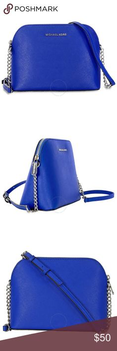 Blue MK Cindy Great condition! Michael Kors Cindy dome crossbody MICHAEL Michael Kors Bags Crossbody Bags
