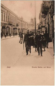 """Strada """"14 Decembrie"""", 1900, Iași, România First Color Photograph, Bulgaria, Old Pictures, Romania, Past, Places To Visit, Fire, Urban, Country"""