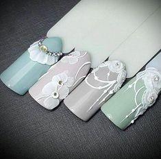 Nail Art Ideas To Dress Up Any Occasion – Your Beautiful Nails 3d Nail Designs, Simple Nail Designs, Nails Design, Bridal Nails, Wedding Nails, Acryl Nails, Manicure, Nailart, Acrylic Nail Art