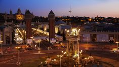 Barcelona 's Plaça Espanya. The history of the International Exposition at the beginning of the century in our city.