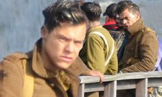 PICTURE EXCLUSIVE: Harry Styles looks battle-weary as he films Dunkirk