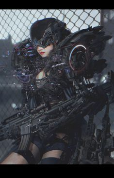 Rifle Cyborg, ATEC (Min Gyu Lee) on ArtStation at https://www.artstation.com/artwork/zX43d
