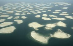 Aerial photos of Dubai - This nearby man-made archipelago, aptly named The World, was designed to look like a map of the world from above.