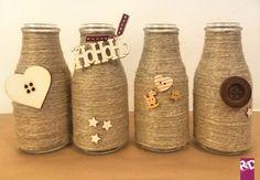 Riciclare le bottiglie come vasi natalizi [faidate]
