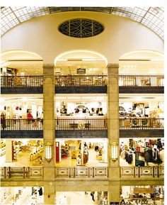 The Atrium at NK Department Store in Stockholm.  Rafe and his crewmates did a little shopping at Nordiska Kompaniet.
