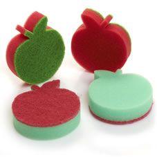 Wilko Apple Sponge Scourers 4pk