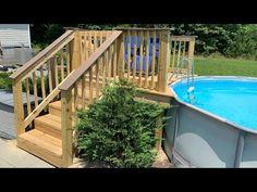 Above Ground Pool Landscaping, Backyard Pool Landscaping, Small Backyard Pools, Swimming Pools Backyard, Outdoor Pool, Backyard Ideas, Outdoor Decor, Small Above Ground Pool, Above Ground Swimming Pools