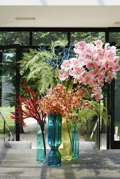 opvullen met handgemaakte bloemen van Sia.