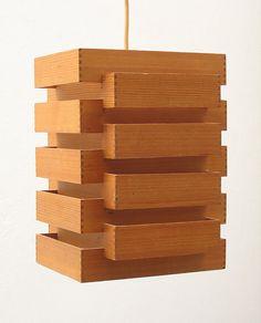 Japanese style fifties wooden pendant lamp Eames, Braakman, Friso Kramer, Rietveld, Mid Century, Danish, Scandinavian, Chairs, Lamps, Shelves