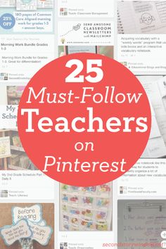 25 must-follow teachers on Pinterest.