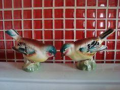 Two Pretty Birds Figurines - porcelain