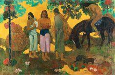 Paul Gauguin, 'Rupe Rupe', 1899 La Cueillette des fruits Huile sur toile, 128 x 190 cm  Musée d'État des Beaux-Arts Pouchkine, Moscou Photo: © Staatliches Museum für Bildenden Künste A.S. Puschkin, Moskau  Paul Gauguin Contes Barbares, 1902 Huile sur toile, 131,5 x 90,5 cm Museum Folkwang, Essen Photo: © Museum Folkwang, Essen  Format imprimable: 31 x 21 cm   Paul Gauguin Contes Barbares, 1902 Huile sur toile, 131,5 x 90,5 cm Museum Folkwang, Essen Photo: © Museum Folkwang, Essen  Format ...