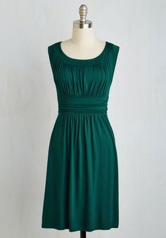 I Love Your Dress in Forest Green. You'll really feel the adoration while wearing this forest green dress! #green #modcloth