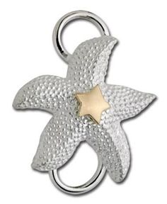 SS/14K Starfish Clasp