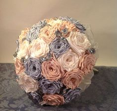 Satin bridal bouquet from To Hold & To Have. www.holdandhave.com  #holdandhave #bridalbouquets #satinbouquets