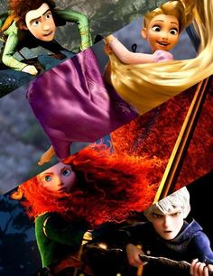 Hiccup, Rapunzel, Merida, Jack.