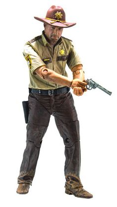 Rick Grimes Poseable Figure from The Walking Dead, McFarlane Toys 14576 Rick Grimes Poseable Figure from The Walking Dead. It is made by McFarlane Toys and is approximately 13 cm (5.1 in) high In the beginning of The Walking Dead series, we are introduced to deputy Rick Grimes. After waking from a coma in an abandoned hospital, Rick finds the world he knew gone. Bound to uphold the law, Rick is seen wearing his full deputy uniform in many of the iconic scenes from season 1, such as his…