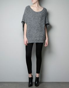 BOUCLE KNIT MOHAIR SWEATER - Knitwear - Woman - New collection - ZARA United Kingdom