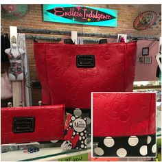 MICKEY MOUSE! Handbag with matching wallet now available at Endless Indulgence Retro Wear