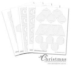 {free printables} colour-in Christmas collection - The Candy Tree