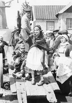 """marypickfords: """" Mary Pickford on the set of Hulda From Holland, 1916. """""""