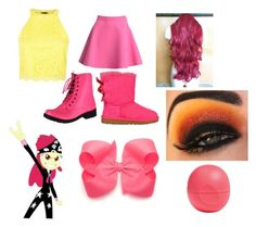 """""""Apple Bloom"""" by magic-dinosaur ❤ liked on Polyvore featuring My Little Pony, MSGM, Qupid, UGG Australia and Eos"""