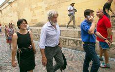 Harrison Ford y Calista Flockhart descubren los encantos de la Mezquita de Córdoba