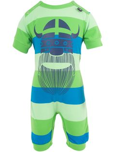 "#Danefae Strampler ""Atlantis Erik""- € 30,75 -Wikimo Kindermode, blau/grün gestreift by Danefae Atlantis, Kind Mode, Trunks, Baby, Swimming, Swimwear, Fashion, Green Stripes, Blue Green"