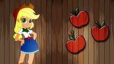 Equestria Girls Applejack Wallpaper by *Macgrubor on deviantART