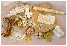 """One-of-a-kind """"Stash Kit"""".....just found this site. Lots of gorgeous gilded collections and ideas."""