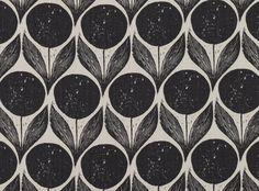 Suvi Ebony | Orvieto | Printed Linen | Romo Fabrics | Designer Fabrics & Wallcoverings, Upholstery Fabrics
