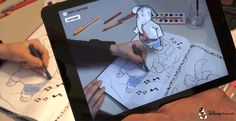 Their latest idea by Disney Research cultivates creative minds through an app that lets kids see a coloring book character in 3D, as they're shading it.