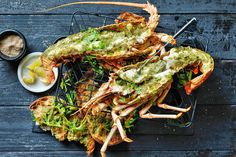 Support the talents of our Aussie producers and put this Produce Awards 'From the Sea' finalist in the centre of your table. Shellfish Recipes, Seafood Recipes, Summer Recipes, New Recipes, Frozen Lobster, Greens Recipe, Just Cooking, Fish And Seafood, Recipe Collection