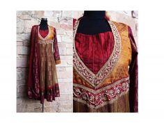 Sequined hand work Brocade and net Anarkali Suit by Priti Kamath Sahani only on Tadpole Store http://www.tadpolestore.com/fuchsia-raw-silk-straight-dress-clone.html