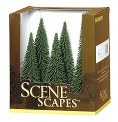 Bachmann Scene Scapes 5 to 6 Inch Pine Trees, Pkg. of 6