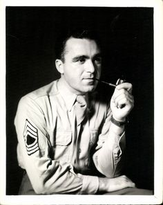 Sergeant smoking a pipe