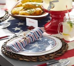 Set the 4th of July scene with and overabundance of red, white and blue!