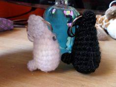 Totoro blanco y negro