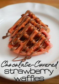 Chocolate-Covered Strawberry Waffle