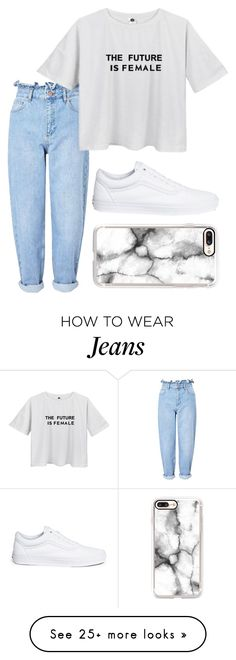 """Jeans"" by curlyhead23 on Polyvore featuring Miss Selfridge, Vans and Casetify"