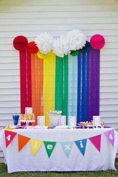 Smarty Parties: Lexi& Rainbow My Little Pony Party Festa Rainbow Dash, Rainbow Dash Birthday, Rainbow Parties, Unicorn Birthday, Unicorn Party, Girl Birthday, Festa Do My Little Pony, My Little Pony Birthday Party, 6th Birthday Parties