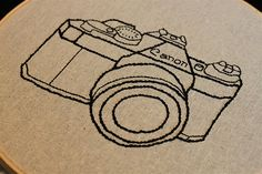 camera embroidery pattern
