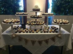 Our wedding project for daughter's wedding! Nothing bundt cakes/ wooden cupcake stands Wedding Cupcake Table, Wedding Cake Display, Wedding Cakes With Cupcakes, Cupcake Stands For Weddings, Cupcake Table Displays, Cupcake Display, Wooden Cupcake Stands, Nothing Bundt Cakes, 50th Wedding Anniversary