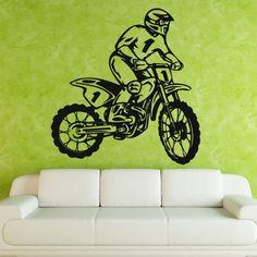 Wall Decal Art Decor Decals Sticker Bedroom Design Mural Tribal Dirt Bike Moto Motorcycle Race Rally Gp (M823) DecorWallDecals http://www.amazon.com/dp/B00HP0FSHI/ref=cm_sw_r_pi_dp_C7o2ub1HE94TM