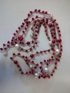 Custom Jewelry, Diy Jewelry, Beaded Jewelry, Jewelry Making, Diy Necklace, Crochet Necklace, Jewelry Knots, Beaded Wrap Bracelets, Homemade Jewelry